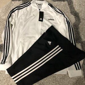 Adidas ladies leggings and jacket size L